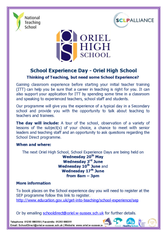 School Experience Day Flyer_1