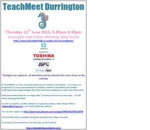 durrington teachmeet